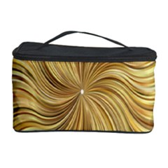 Chic Festive Elegant Gold Stripes Cosmetic Storage Cases by yoursparklingshop