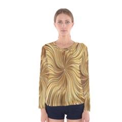 Chic Festive Elegant Gold Stripes Women s Long Sleeve Tee by yoursparklingshop