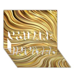 Chic Festive Gold Brown Glitter Stripes You Are Invited 3d Greeting Card (7x5)  by yoursparklingshop
