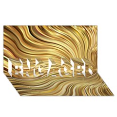 Chic Festive Gold Brown Glitter Stripes Engaged 3d Greeting Card (8x4)