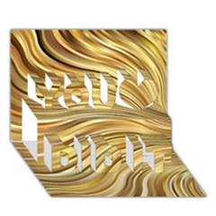 Chic Festive Gold Brown Glitter Stripes You Did It 3d Greeting Card (7x5) by yoursparklingshop