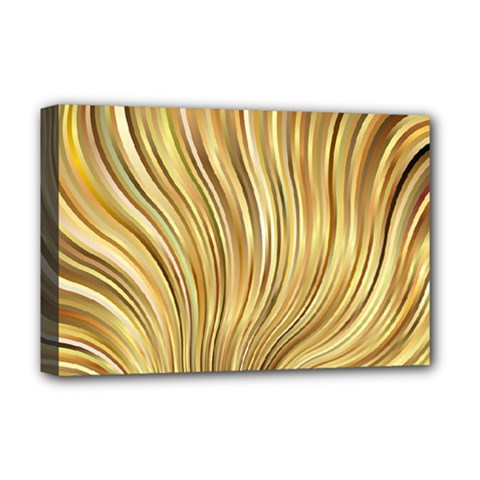 Gold Stripes Festive Flowing Flame  Deluxe Canvas 18  X 12   by yoursparklingshop