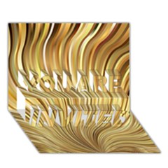 Gold Stripes Festive Flowing Flame  You Are Invited 3d Greeting Card (7x5)  by yoursparklingshop