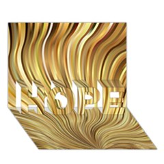Gold Stripes Festive Flowing Flame  Hope 3d Greeting Card (7x5)