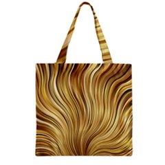 Gold Stripes Festive Flowing Flame  Grocery Tote Bag by yoursparklingshop