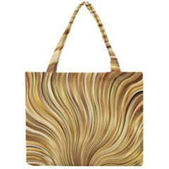 Gold Stripes Festive Flowing Flame  Mini Tote Bag by yoursparklingshop
