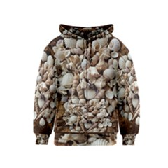 Tropical Sea Shells Collection, Copper Background Kids  Zipper Hoodie by yoursparklingshop