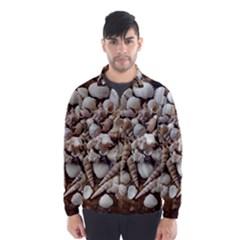 Tropical Sea Shells Collection, Copper Background Wind Breaker (men)