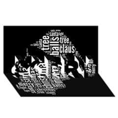 Funny Santa Black And White Typography Sorry 3d Greeting Card (8x4)  by yoursparklingshop