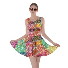 Colorful Chemtrail Bubbles Skater Dress