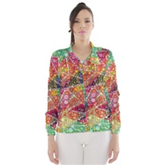 Colorful Chemtrail Bubbles Wind Breaker (women) by KirstenStar