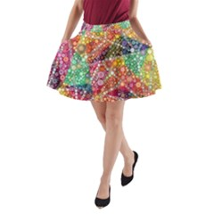 Colorful Chemtrail Bubbles A Line Pocket Skirt by KirstenStar