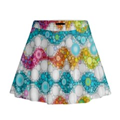 Bubble Waves Mini Flare Skirt by KirstenStar