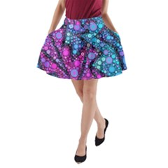 Blues Bubble Love A-Line Pocket Skirt by KirstenStar
