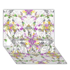 Geometric Boho Chic YOU ARE INVITED 3D Greeting Card (7x5)  by dflcprints
