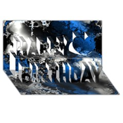 Amazing Fractal 26 Happy Birthday 3d Greeting Card (8x4)  by Fractalworld