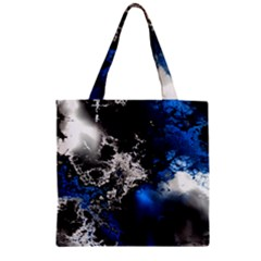 Amazing Fractal 26 Zipper Grocery Tote Bag by Fractalworld