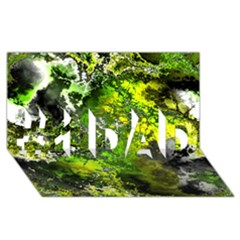 Amazing Fractal 27 #1 Dad 3d Greeting Card (8x4)