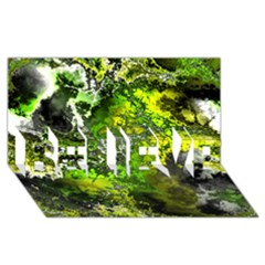 Amazing Fractal 27 Believe 3d Greeting Card (8x4)  by Fractalworld