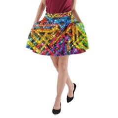 Color Play In Bubbles A Line Pocket Skirt by KirstenStar