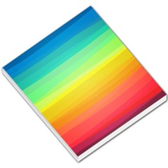 Sweet Colored Stripes Background Small Memo Pads