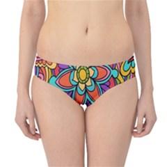 Festive Colorful Ornamental Background Hipster Bikini Bottoms by TastefulDesigns
