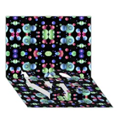 Multicolored Galaxy Pattern Love Bottom 3d Greeting Card (7x5)  by dflcprints