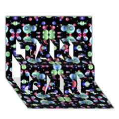 Multicolored Galaxy Pattern Take Care 3d Greeting Card (7x5)