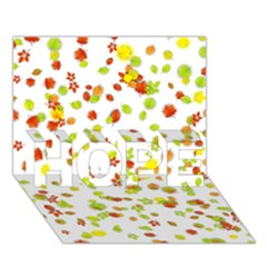 Colorful Fall Leaves Background Hope 3d Greeting Card (7x5)