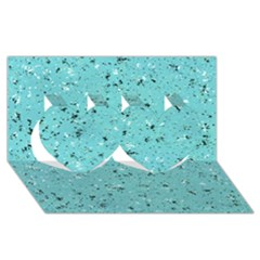 Abstract Cracked Texture Twin Hearts 3d Greeting Card (8x4)