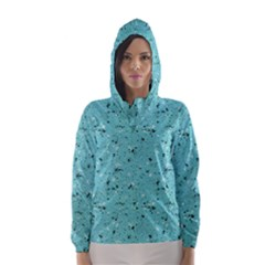 Abstract Cracked Texture Print Hooded Wind Breaker (women) by dflcprintsclothing