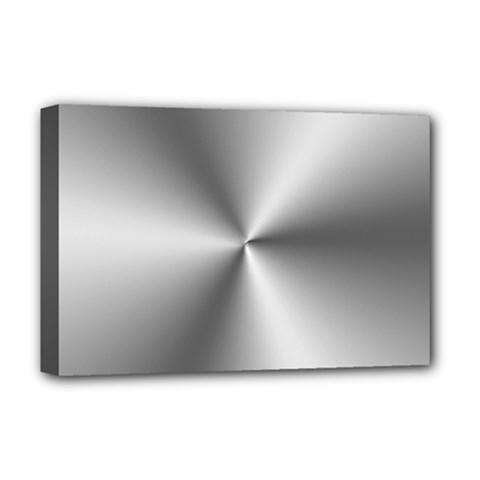 Shiny Metallic Silver Deluxe Canvas 18  X 12   by yoursparklingshop