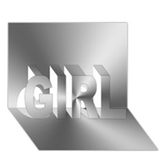Shiny Metallic Silver Girl 3d Greeting Card (7x5)  by yoursparklingshop