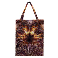 Golden Metallic Abstract Flower Classic Tote Bag