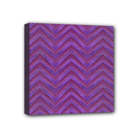 Grunge Chevron Style Mini Canvas 4  X 4  by dflcprints
