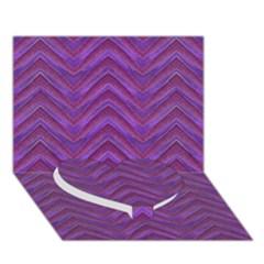 Grunge Chevron Style Heart Bottom 3d Greeting Card (7x5)  by dflcprints