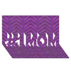 Grunge Chevron Style #1 Mom 3d Greeting Cards (8x4)