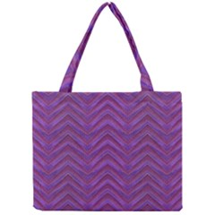 Grunge Chevron Style Mini Tote Bag by dflcprints