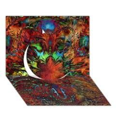 Boho Bohemian Hippie Floral Abstract Circle 3d Greeting Card (7x5)  by CrypticFragmentsDesign