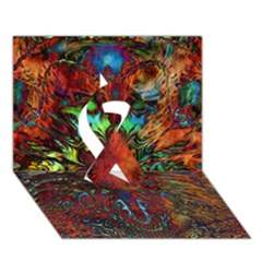 Boho Bohemian Hippie Floral Abstract Ribbon 3d Greeting Card (7x5)  by CrypticFragmentsDesign