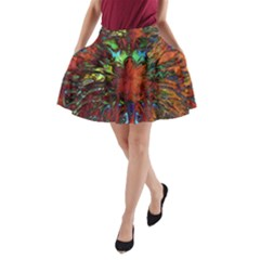 Boho Bohemian Hippie Floral Abstract A-Line Pocket Skirt by CrypticFragmentsDesign