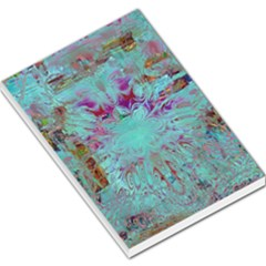 Retro Hippie Abstract Floral Blue Violet Large Memo Pads