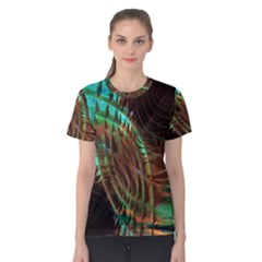 Metallic Abstract Copper Patina  Women s Cotton Tee by CrypticFragmentsDesign