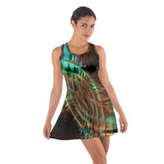 Metallic Abstract Copper Patina  Racerback Dresses by CrypticFragmentsDesign