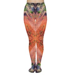 Boho Bohemian Hippie Floral Abstract Faded  Women s Tights by CrypticFragmentsDesign