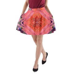 Boho Bohemian Hippie Retro Tie Dye Summer Flower Garden Design A Line Pocket Skirt by CrypticFragmentsDesign