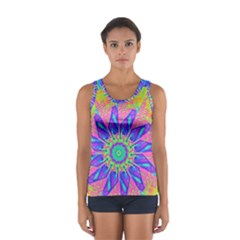 Neon Flower Sunburst Pinwheel Tops