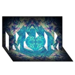 Boho Hippie Tie Dye Retro Seventies Blue Violet Mom 3d Greeting Card (8x4)  by CrypticFragmentsDesign