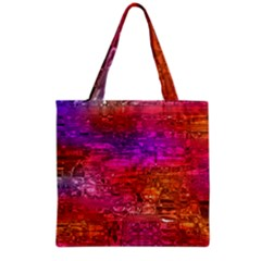 Purple Orange Pink Colorful Art Grocery Tote Bag by yoursparklingshop