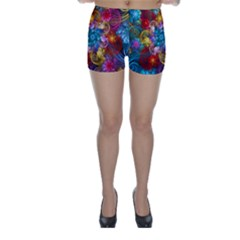 Spirals And Curlicues Skinny Shorts